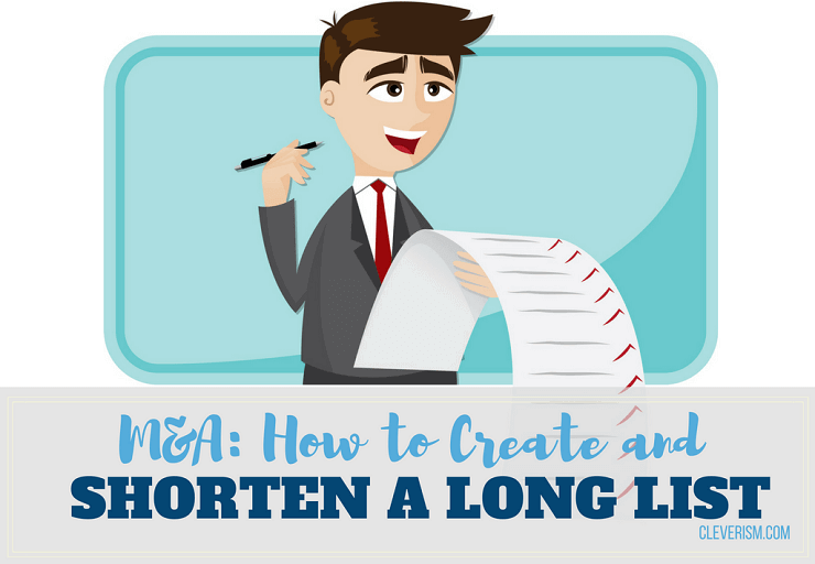 M&A: How to Create and Shorten a Long List
