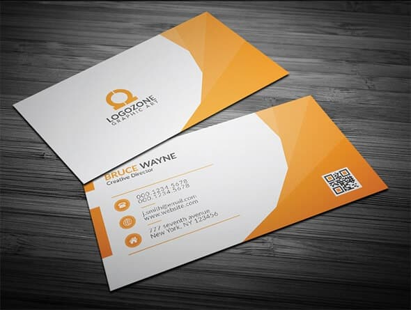 75 free business card templates that are stunning beautiful 1 orange corporate business card wajeb Image collections