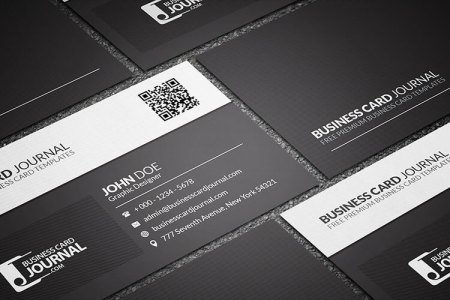 75 Free Business Card Templates That Are Stunning Beautiful 12 black and white qr code business card