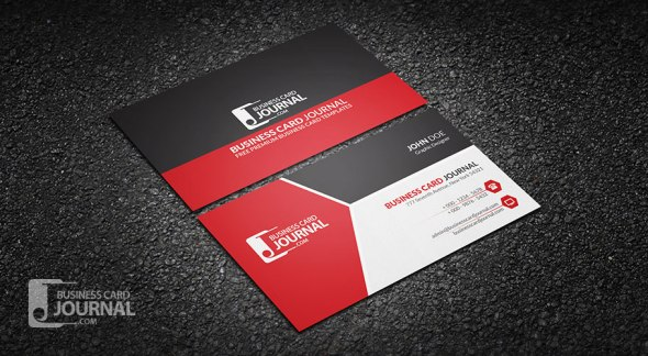 75 free business card templates that are stunning beautiful 15 modern tricolor business card template for professional wajeb Choice Image