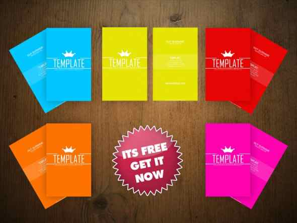 75 free business card templates that are stunning beautiful 26 simple colorful business card template wajeb Choice Image