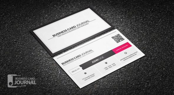 75 free business card templates that are stunning beautiful 38 metro style business card template with qr flashek Images