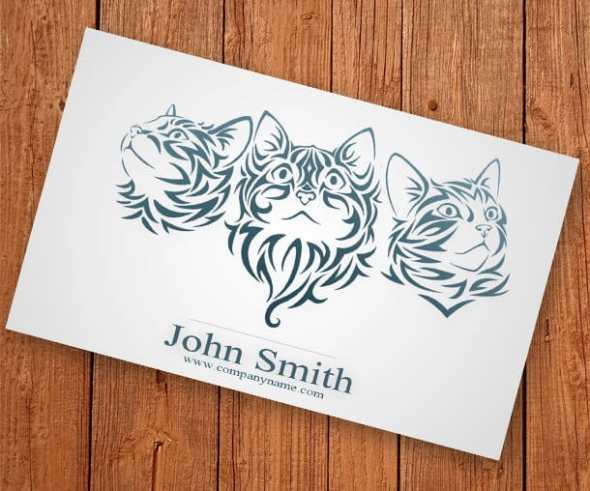 8-cat-business-card