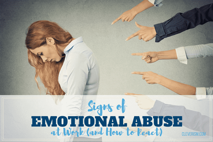 signs of emotional abuse at work  and how to react
