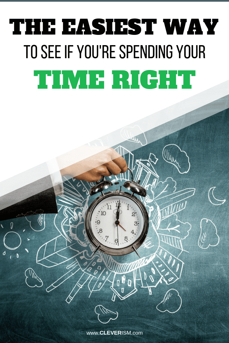 The Easiest Way to See if You're Spending Your Time Right - #TimeManagement #SpendingTimeRight #Cleverism