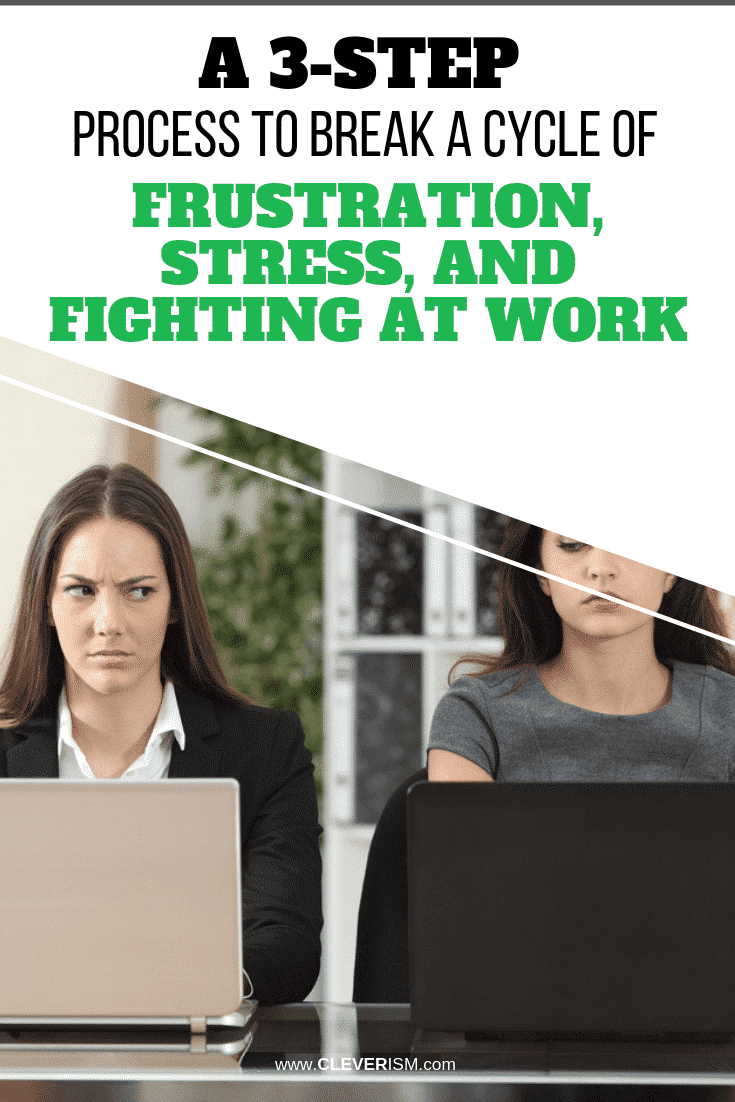 A 3-Step Process to Break a Cycle of Frustration, Stress, and Fighting at Work - #Workplace #Frustration #StressAtWork #Cleverism