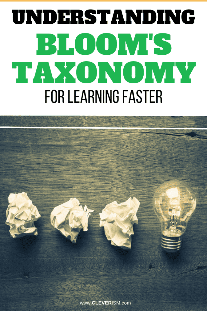 Understanding Bloom's Taxonomy for Learning Faster
