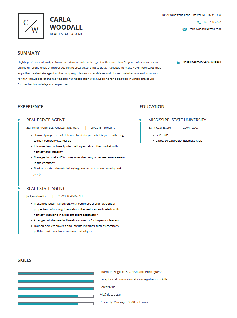 Real Estate Resume Examples Template Complete Guide