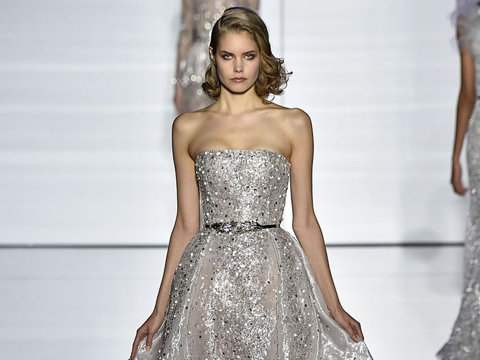 20 Beautiful Silver Wedding Dresses