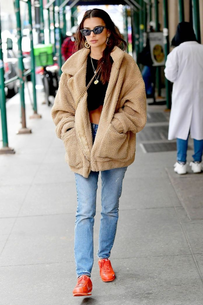 EmRata Just Wore Last Year's Viral $120 Coat—Now It's Restocked and Cool As Ever