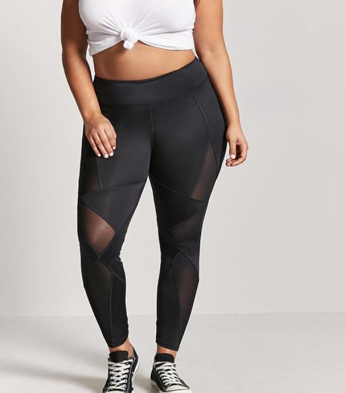 Resultado de imagen de plus size leggings with mesh