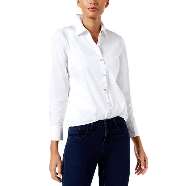 INC International Concepts Corset-Back Shirt