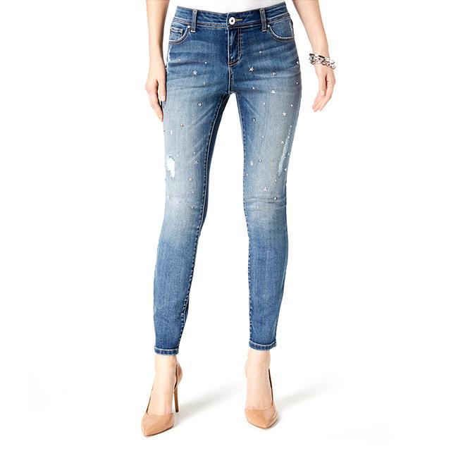 INC International Concepts Embellished Skinny Jeans