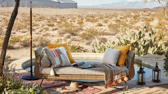 Free Virtual Zoom Backgrounds   Who What Wear on Belham Living Lilianna Outdoor Daybed id=42225