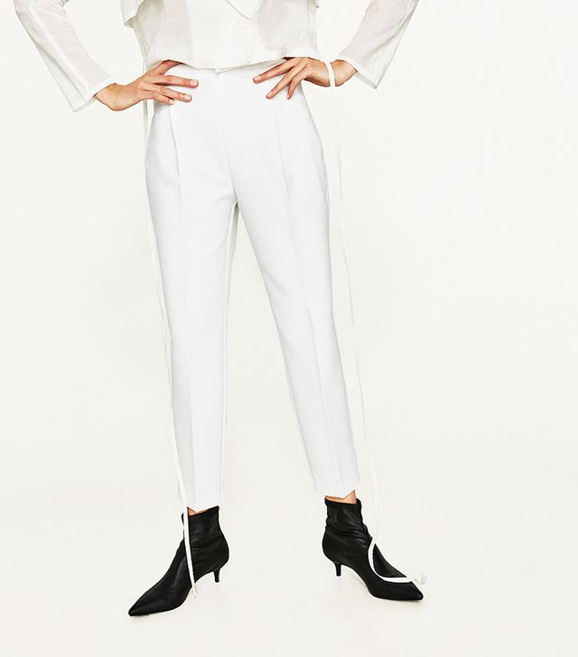 Zara High-Rise Trousers with Darts