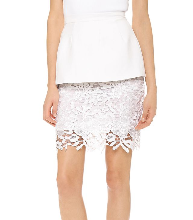 For those seeking a dramatic way to flaunt their curves, look no farther than this lace skirt. The peplum stands out from the body, making your waist seem even thinner in proportion to your...