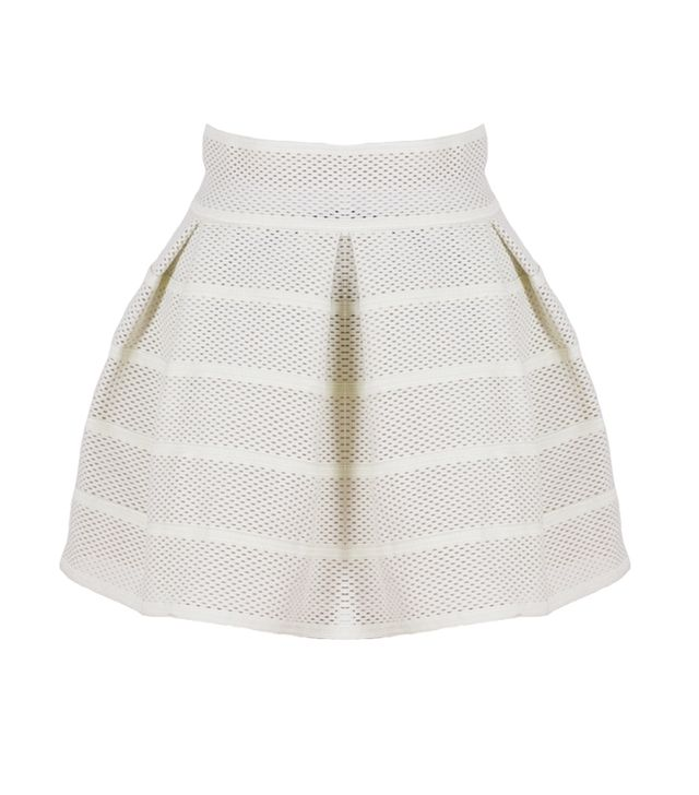 We're all about this skirt's structured silhouette and on-trend sporty vibe.  Modern Citizen Mesh Skater Skirt ($64)