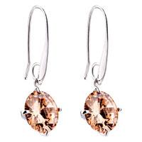 Earrings - topaz november birthstone crystal round dangle earrings Image.