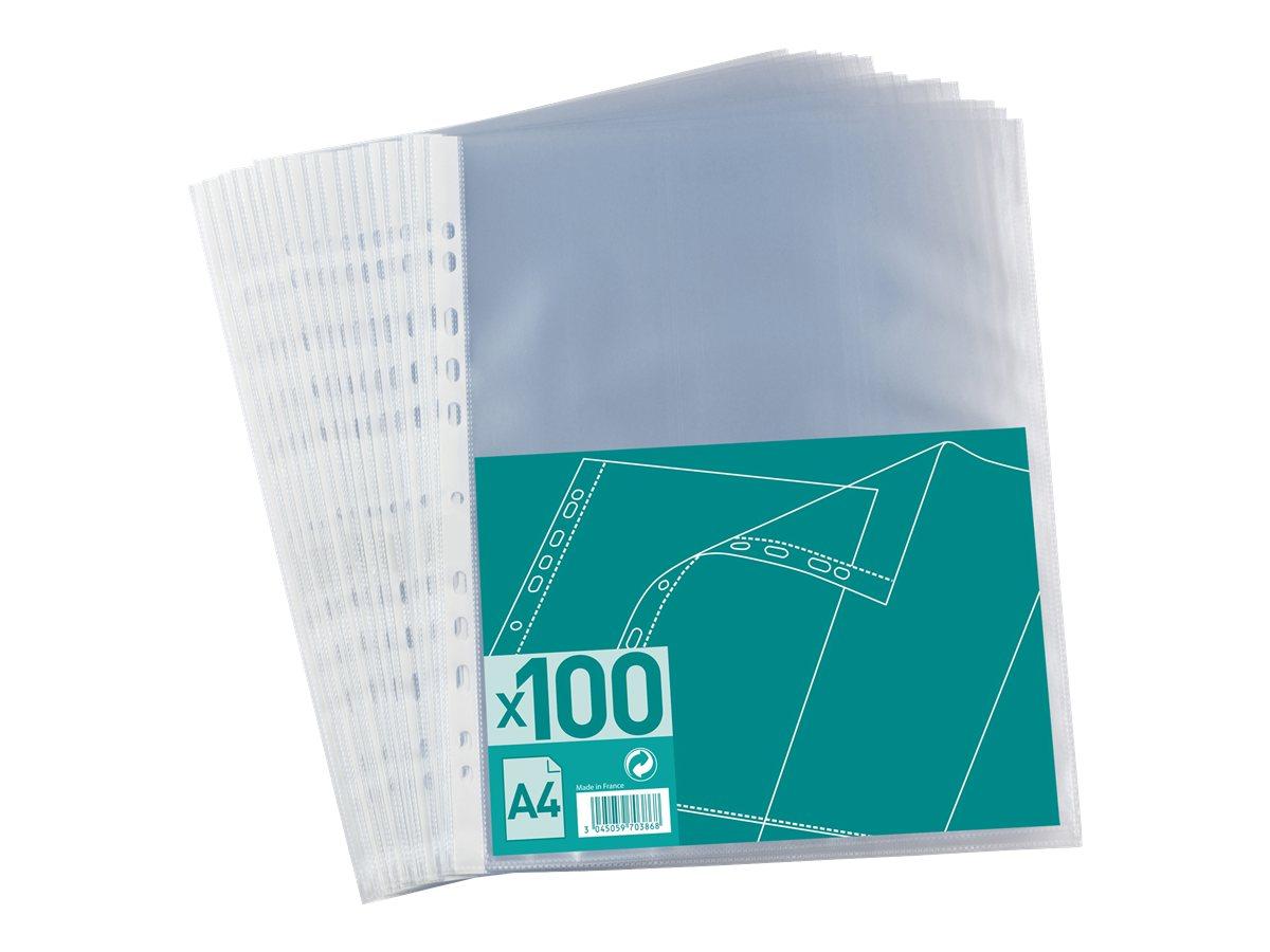 100 Pochettes Perfores A4 Pour 20 Feuilles 4100