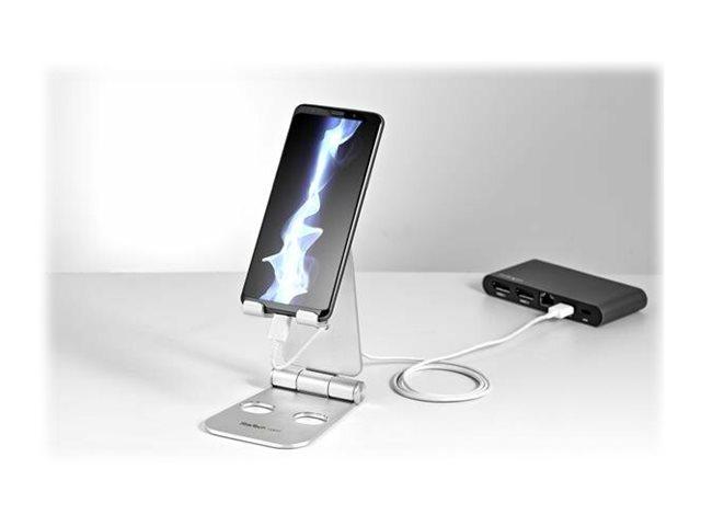 startech com support pour tablette tactile pliable pied universel pour tablette smartphone en aluminium socle de bureau pour telephone