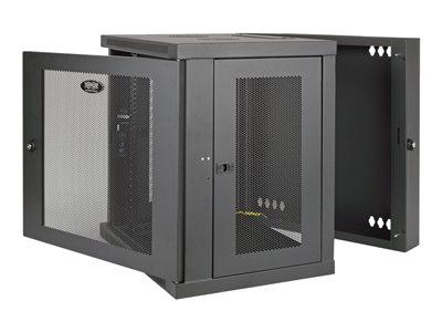 tripp lite 12u wall mount rack enclosure server cabinet hinged doors sides rack 12u