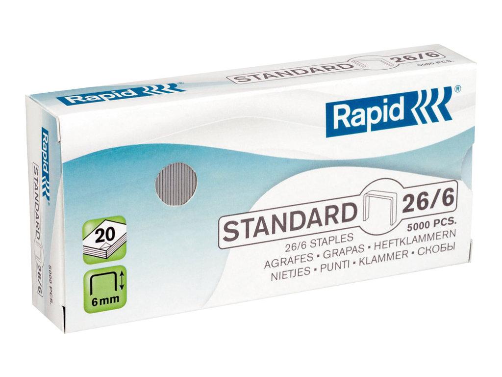 Rapid Standard 5000 Agrafes 266 6 Mm Acier