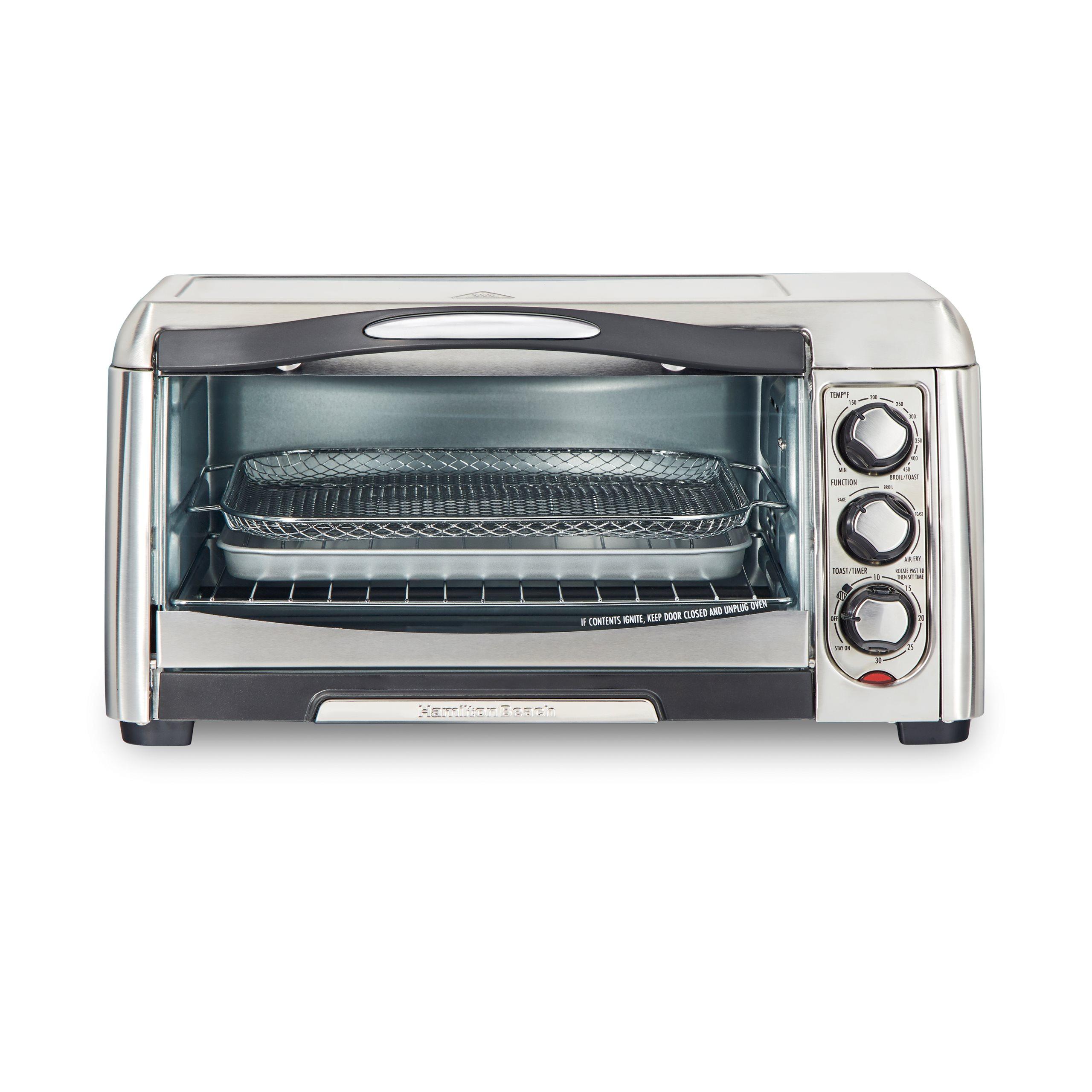 hamilton beach sure crisp air fry toaster oven stainless steel 31323