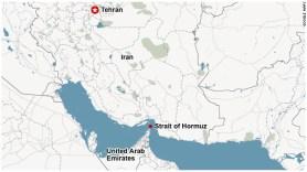 Image result for Strait of Hormuz map