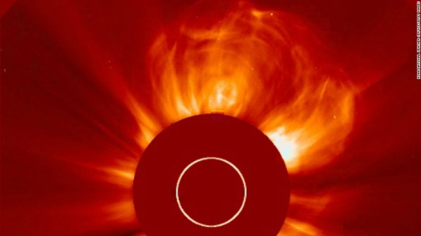 Huge solar storm to shower Earth with radioactive