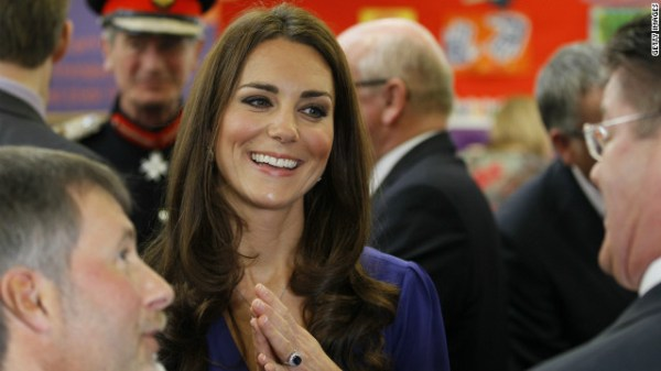 Catherine, Duchess of Cambridge, gives first public ...