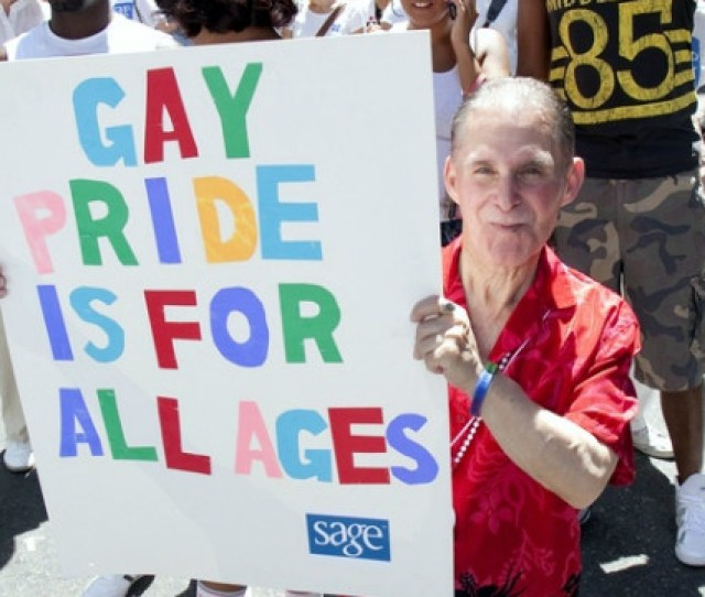 A Sage Supporter At The New York Gay Pride Parade In June Sage Works To