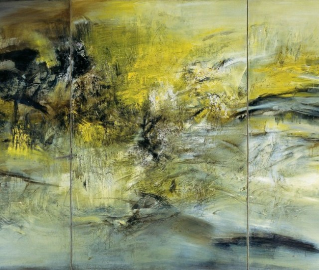 Zao Eventually Committed Himself Fully To Abstract Painting Rarely Using Even Figurative Titles After