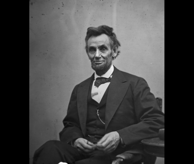 President Abraham Lincoln Holds His Spectacles And A Pencil In February  A Year Earlier