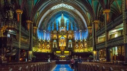 Located in Montreal, Notre Dame Basilica is one of Canada's most stunning churches. Completed in 1891, it was designated a National Historic Site of Canada in 1989.