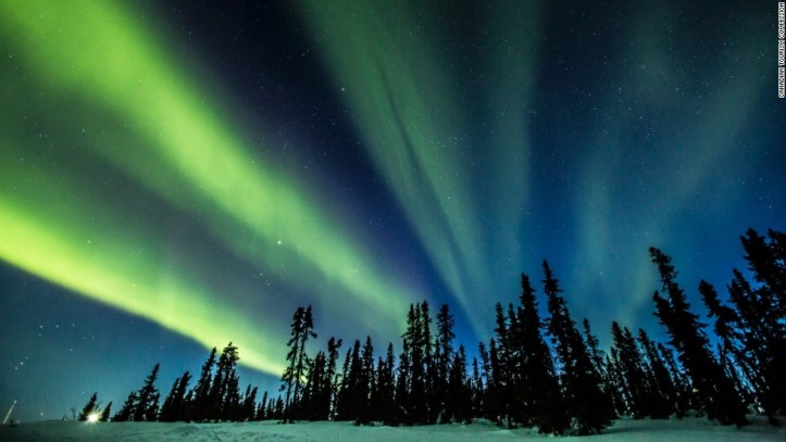 Canada's remote Yukon, the smallest of the country's three federal territories, is one of the best places to check out the northern lights, as seen here on the Eagle Plains.
