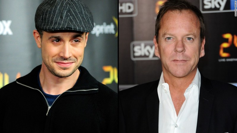 """Freddie Prinze Jr. worked with Kiefer Sutherland on the Fox series """"24"""" in 2010 and said his experience with the actor was so horrible, he wanted to quit acting. Yet while Prinze called Sutherland """"the most unprofessional dude in the world,"""" Sutherland responded via his rep that he enjoyed working with his former co-star."""