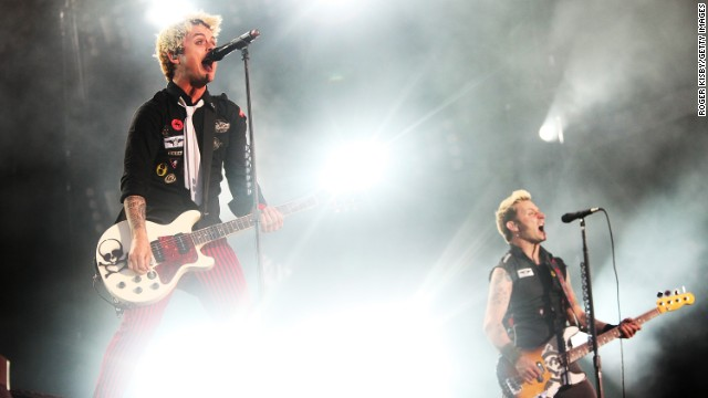 Billy Joe Armstrong and Mike Dirt of Green Day.