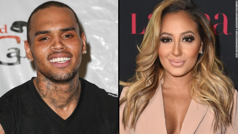 """When Chris Brown learned what """"The Real"""" co-hosts Adrienne Bailon and Tamar Braxton had to say about his relationship with Karrueche Tran, the singer defended his (then) girlfriend in a social media tirade. Among other things, Brown criticized Bailon as being an """"ole trout mouth"""" and labeled Braxton as """"Muppet Face."""""""