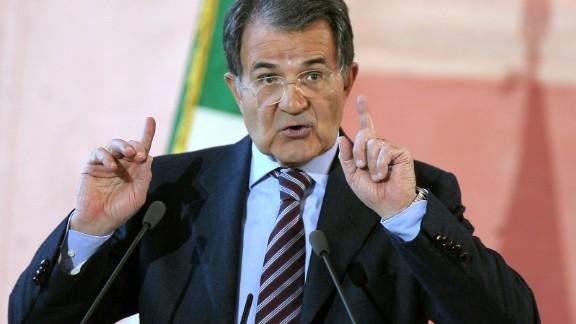 Il presidente del Consiglio Romano Prodi durante la sua conferenza stampa di fine anno a Villa Madama a Roma il 27 dicembre 2007.