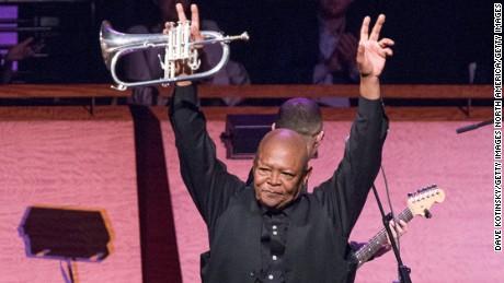 Masekela performs in a concert in New York in April 2014.