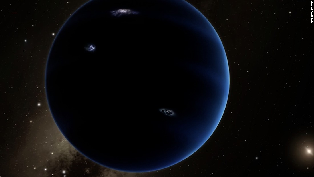 Caltech researchers have found evidence of a giant planet tracing a bizarre, highly elongated orbit in the outer solar system. The object, nicknamed Planet Nine, has a mass about 10 times that of Earth and orbits about 20 times farther from the sun on average than does Neptune.