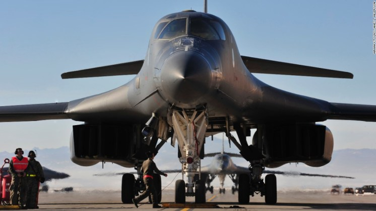 Image result for B-1 bomber: U.S. releases Air Force maintenance Airmen, crew
