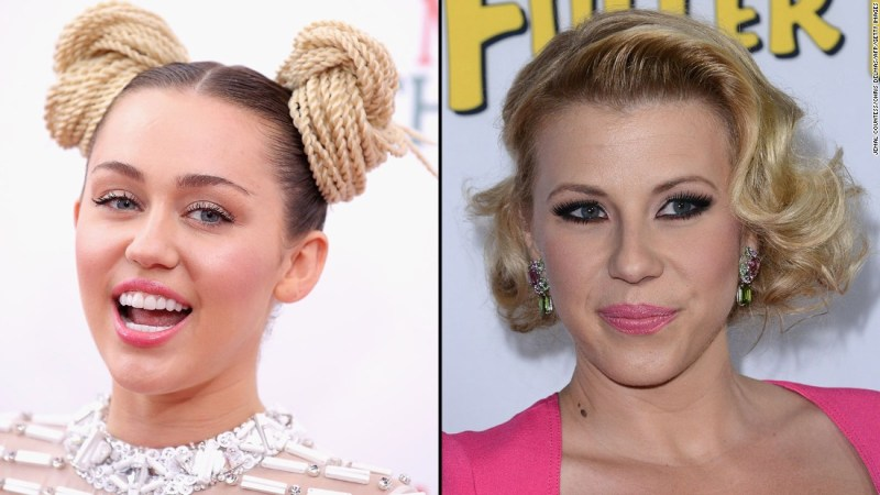 """Fans were upset when Miley Cyrus posted some unflattering photos of """"Full House"""" star Jodie Sweetin from her partying days. Sweetin took the high road, saying, """"I don't pay attention to negative stuff."""""""