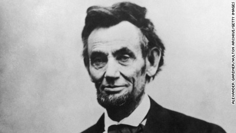 Abraham Lincoln (1809 - 1865), the 16th President of the United States of America.