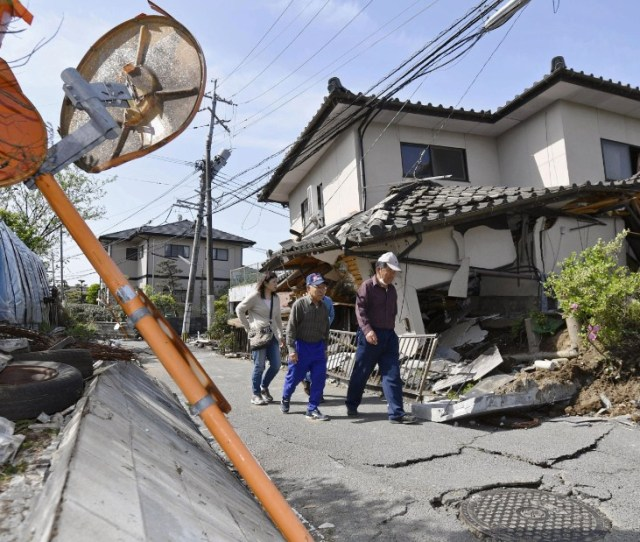 A House In Mashiki Teeters After The Quake