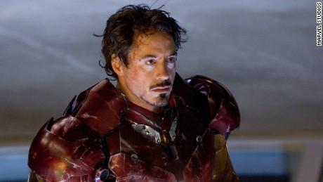 Robert Downey Jr. as Iron Man.