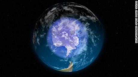 Antarctic ozone layer is healing