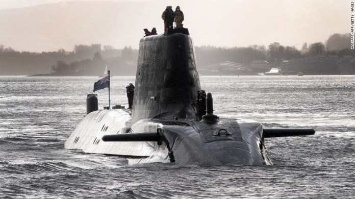 The British Royal Navy's submarine HMS Astute is armed with 38 torpedoes and missiles.