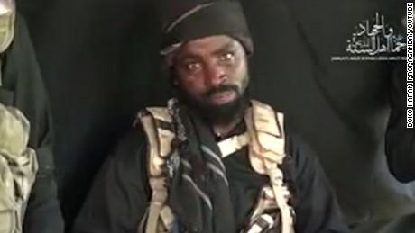 A still from a Boko Haram propaganda video dated September 25 2016, showing leader Abubakar Shekau,