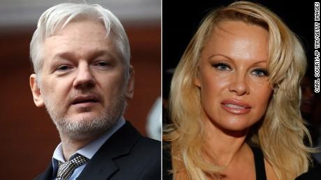 Pamela Anderson is using food to help Julian Assange